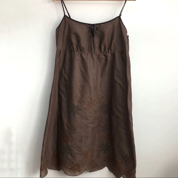 Esprit Dresses & Skirts - ESPRIT Cotton Spaghetti Summer Dress Brown
